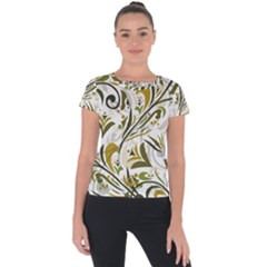 Modern Floral Pattern Short Sleeve Sports Top  by tarastyle