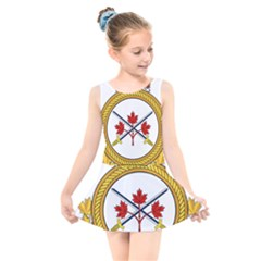 Badge Of The Canadian Army Kids  Skater Dress Swimsuit by abbeyz71
