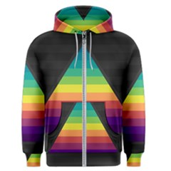 Background Rainbow Stripes Bright Men s Zipper Hoodie
