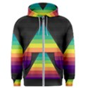 Background Rainbow Stripes Bright Men s Zipper Hoodie View1
