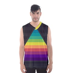 Background Rainbow Stripes Bright Men s Sportswear