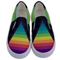Background Rainbow Stripes Bright Kids  Canvas Slip Ons View1