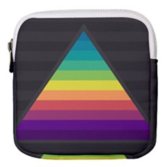 Background Rainbow Stripes Bright Mini Square Pouch