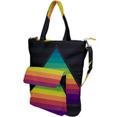 Background Rainbow Stripes Bright Shoulder Tote Bag