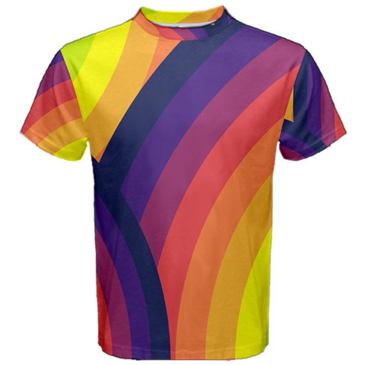 Background Rainbow Colors Colorful Men s Cotton Tee