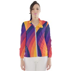 Background Rainbow Colors Colorful Women s Windbreaker