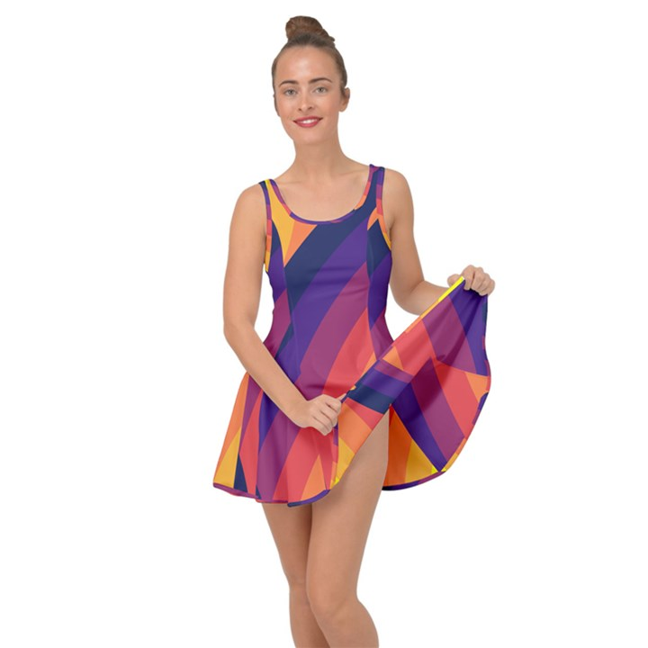 Background Rainbow Colors Colorful Inside Out Casual Dress