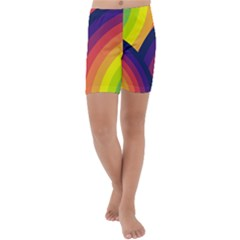Background Rainbow Colors Colorful Kids  Lightweight Velour Capri Yoga Leggings