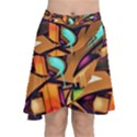 Graffiti Mural Street Art Wall Art Chiffon Wrap Front Skirt View1