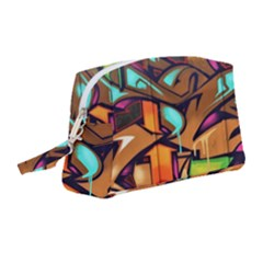 Graffiti Mural Street Art Wall Art Wristlet Pouch Bag (medium)