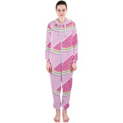 Melons Pattern Food Fruits Melon Hooded Jumpsuit (ladies)