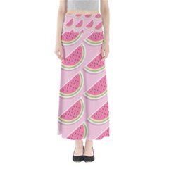 Melons Pattern Food Fruits Melon Full Length Maxi Skirt