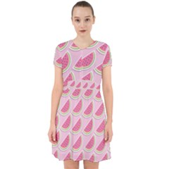 Melons Pattern Food Fruits Melon Adorable In Chiffon Dress
