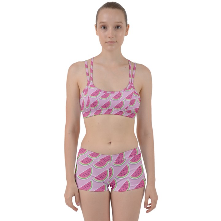 Melons Pattern Food Fruits Melon Perfect Fit Gym Set
