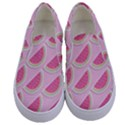 Melons Pattern Food Fruits Melon Kids  Canvas Slip Ons View1