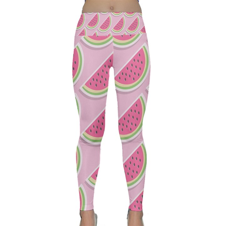 Melons Pattern Food Fruits Melon Lightweight Velour Classic Yoga Leggings