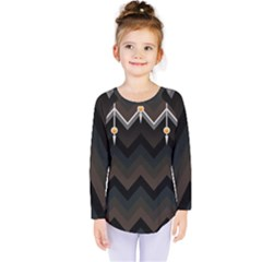 Background Pattern Non Seamless Kids  Long Sleeve Tee