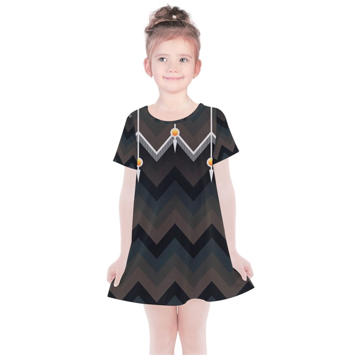 Background Pattern Non Seamless Kids  Simple Cotton Dress