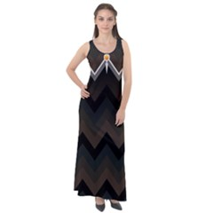 Background Pattern Non Seamless Sleeveless Velour Maxi Dress