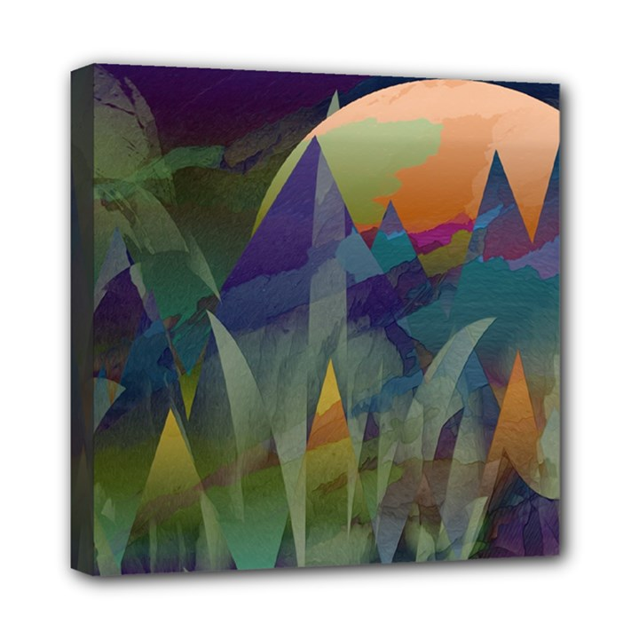 Mountains Abstract Mountain Range Mini Canvas 8  x 8  (Stretched)