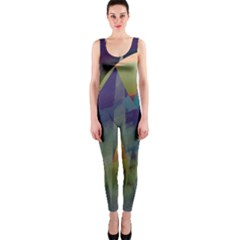 Mountains Abstract Mountain Range One Piece Catsuit