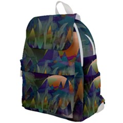 Mountains Abstract Mountain Range Top Flap Backpack