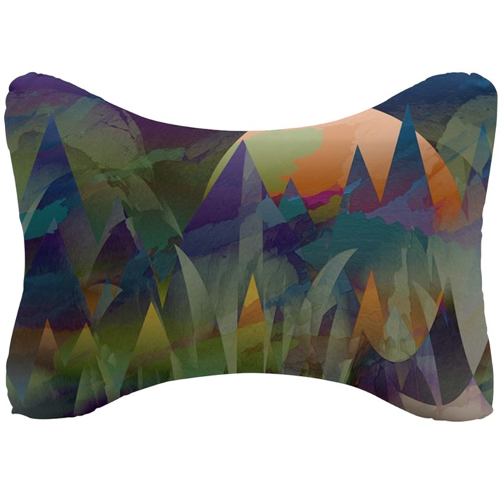 Mountains Abstract Mountain Range Seat Head Rest Cushion