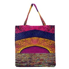 Abstract Sunrise Ocean Sunset Sky Grocery Tote Bag by Pakrebo