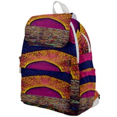 Abstract Sunrise Ocean Sunset Sky Top Flap Backpack