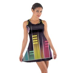 Illustrations Background Abstract Colors Cotton Racerback Dress