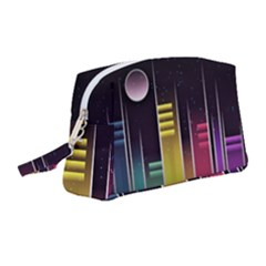 Illustrations Background Abstract Colors Wristlet Pouch Bag (medium)