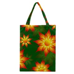 Flower Pattern Floral Non Seamless Classic Tote Bag