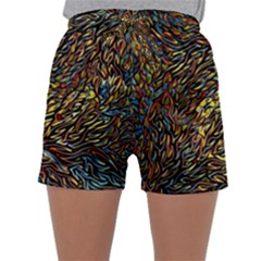 Flames Pattern Texture Gold Sleepwear Shorts