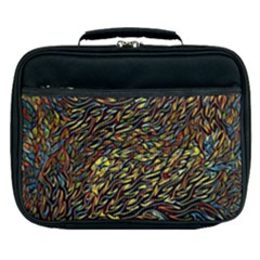 Flames Pattern Texture Gold Lunch Bag