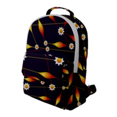 Flower Buds Floral Background Flap Pocket Backpack (large)