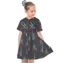 Background Flora Trees Palm Kids  Sailor Dress by Pakrebo