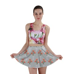 Pattern Non Seamless Floral Flowers Mini Skirt