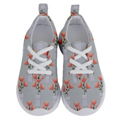 Pattern Non Seamless Floral Flowers Running Shoes