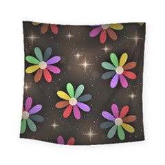 Illustrations Background Floral Flowers Square Tapestry (small) by Pakrebo