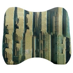 Texture Abstract Buildings Velour Head Support Cushion