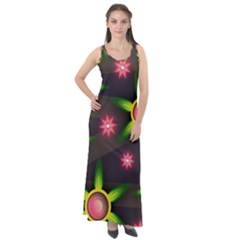 Non Seamless Pattern Background Sleeveless Velour Maxi Dress