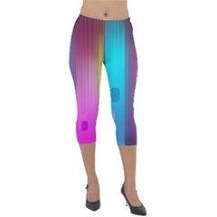 Abstract Background Colorful Lightweight Velour Capri Leggings