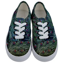 Peacock Feathers Colorful Feather Kids  Classic Low Top Sneakers