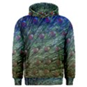 Peacock Feathers Colorful Feather Men s Overhead Hoodie View1