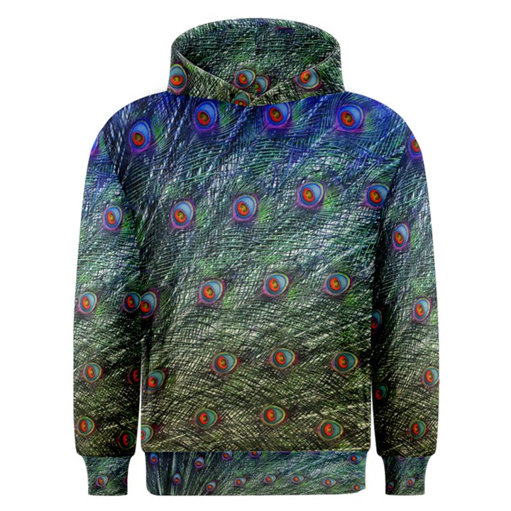 Peacock Feathers Colorful Feather Men s Overhead Hoodie