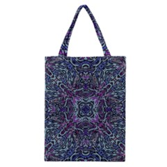 Pattern Fire Purple Repeating Classic Tote Bag