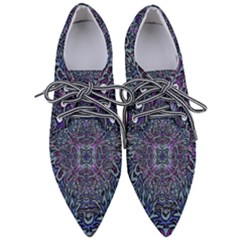 Pattern Fire Purple Repeating Pointed Oxford Shoes