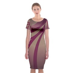 Background Abstract Digital Classic Short Sleeve Midi Dress