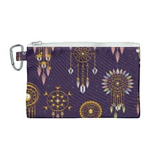 Background Non Seamless Pattern Canvas Cosmetic Bag (medium)