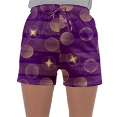 Background Purple Lines Decorative Sleepwear Shorts